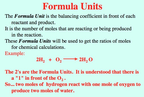 what is a formula unit in chemistry