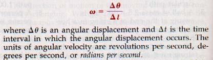 An angle of on  Angular Velocity Equation